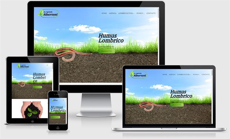 sito web responsive casalmaggiore one page albertoni bio logo