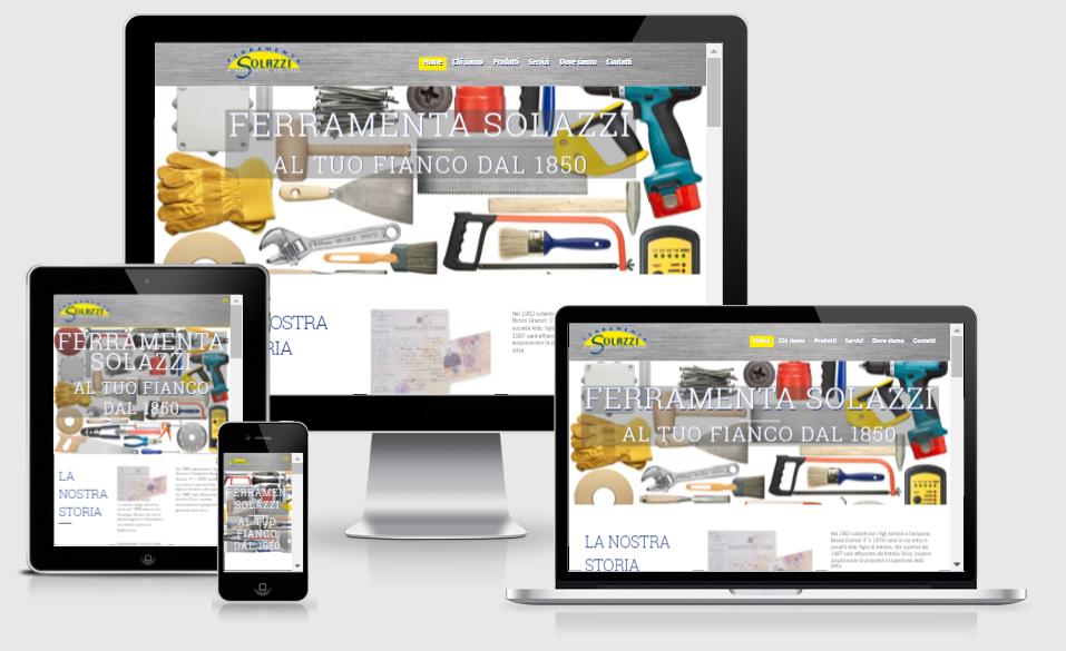 sito web onepage ferramenta solazzi sabbioneta mantova