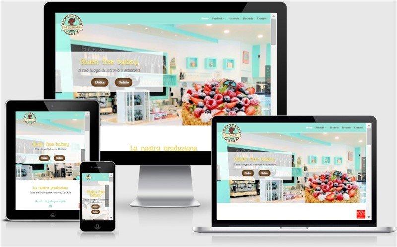 sito web onepage la dolcelia pasticceria mantova fornitura dolci e ristoranti