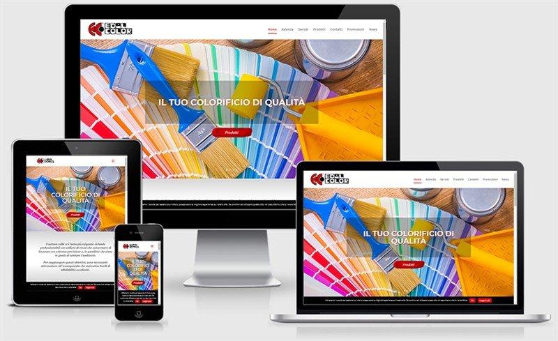 sito web responsive casalmaggiore edilcolor