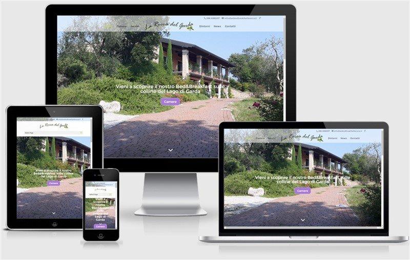 sito web responsive b&b la rocca del garda bamboo studio brescia lago di garda