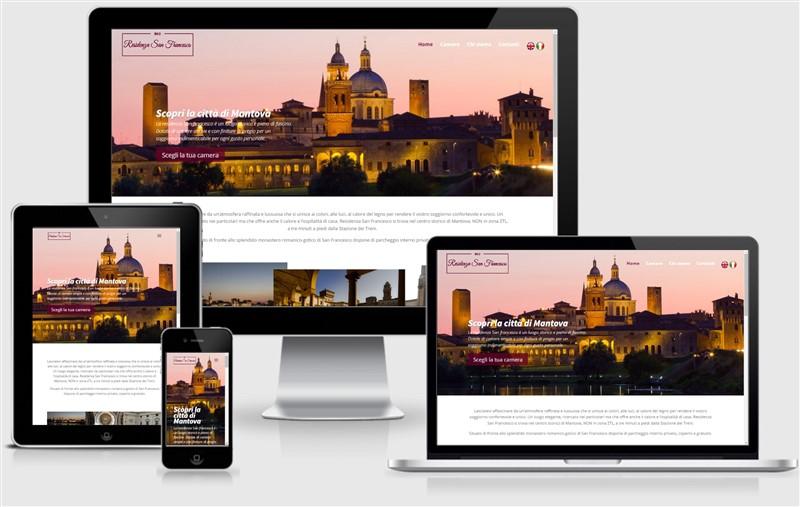 sito web responsive b&B residenza san francesco bamboo studio mantova