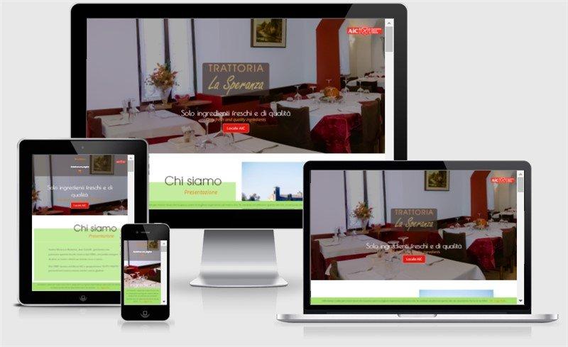 sito web responsive solferino la speranza ristorante aic one page