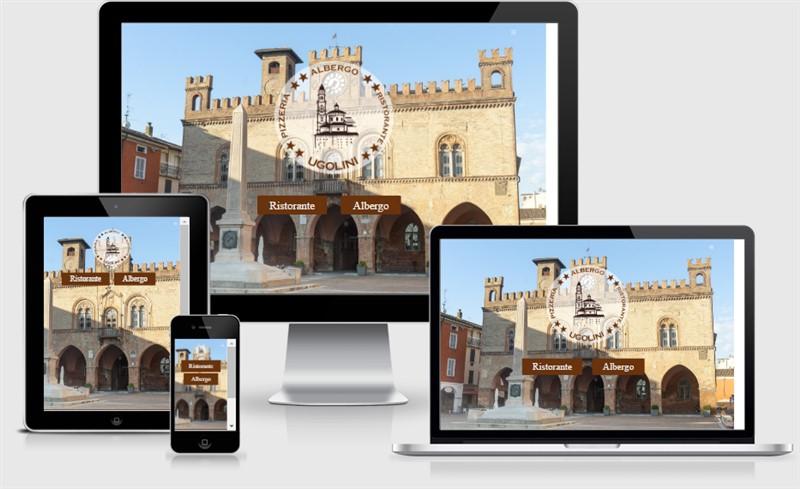 sito web responsive fidenza ugolini albergo ristorante pizzeria