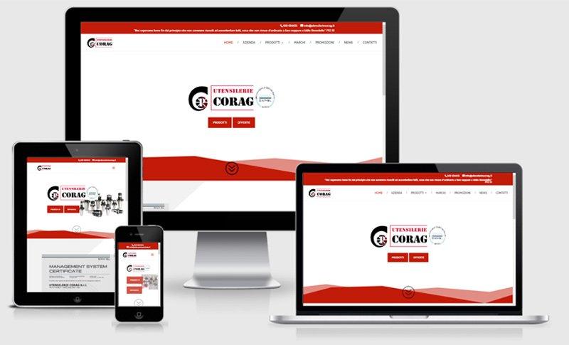 sito web responsive agriturismo corte crivellina mobile cesole mantova