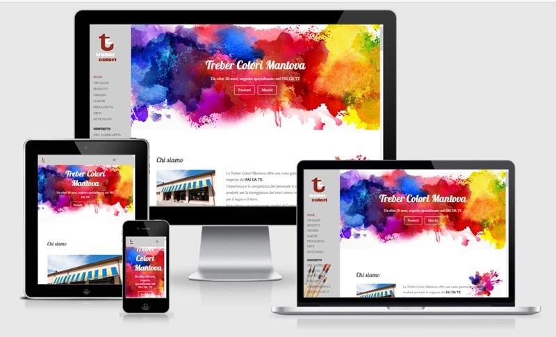 sito web treber colori ferramenta negozio arte pittura colorificio suzzara mantova