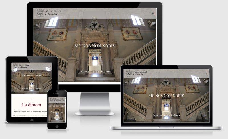 sito web matrimoni location palazzo tornielli one page torino