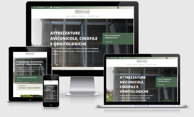 sito web bemag azienda attrzzature guastalla reggio emilia