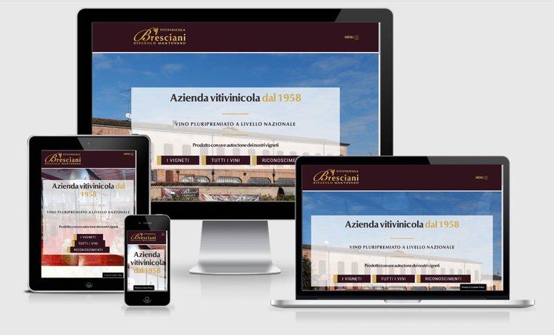 sito web multilingua cantine bresciani produzione vini azienda Rivarolo Mantovano Mantova