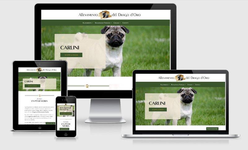 sito web allevamento cani Mantova CArlini Bagnolo San Vito Mantova