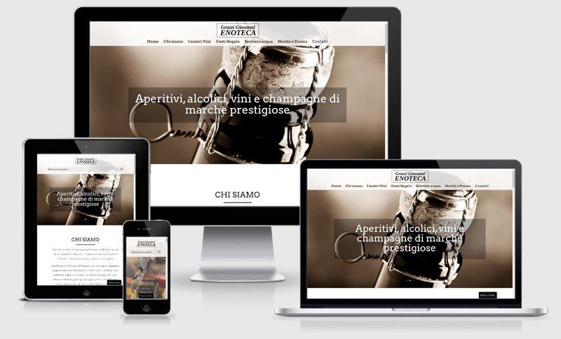 sito web enoteca grazzi vendita vino mantova one page