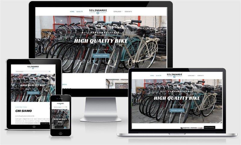 sito web one page produzione vendita assistenza bici biciclette silingardiu bagnolo san vito mantova