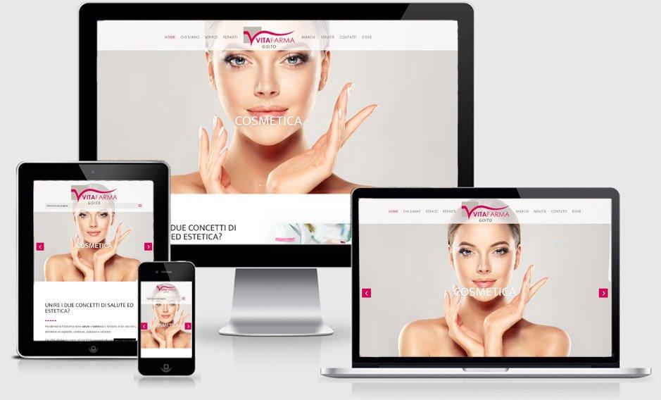 sito web vitafarma goito onepage professionale parafarmacia bellezza cosmesi estetica mantova