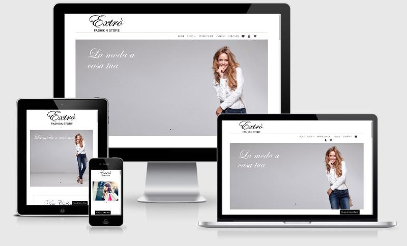 e-commerce negozio online abbigliamento parma casalmaggiore extro